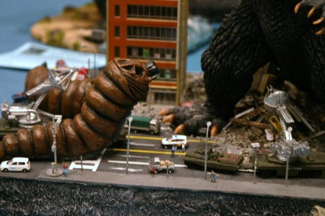 Godzilla and Mothra Model