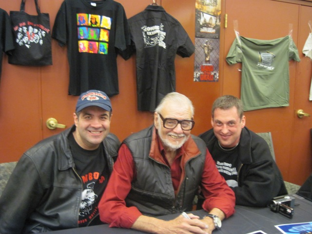 Dave Fuentes & Jason Lucas with George Romero
