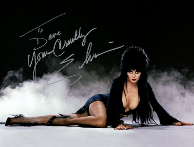 Elvira Mistress of the Dark Autograph