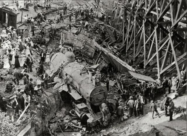 Hammond_Circus_Train_Wreck_1918
