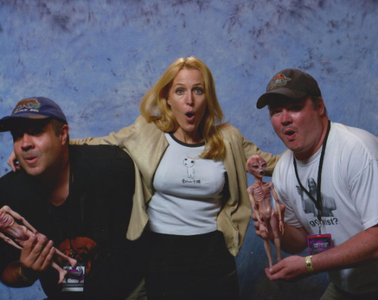 With Gillian Anderson in 2013