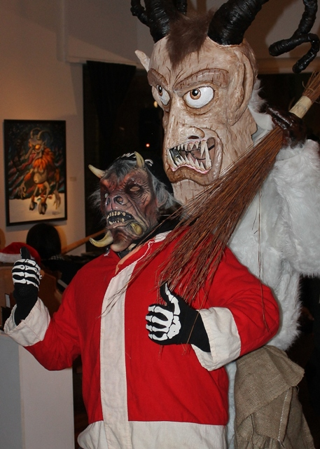 Dave Metzger (as Krampus) menacing another!