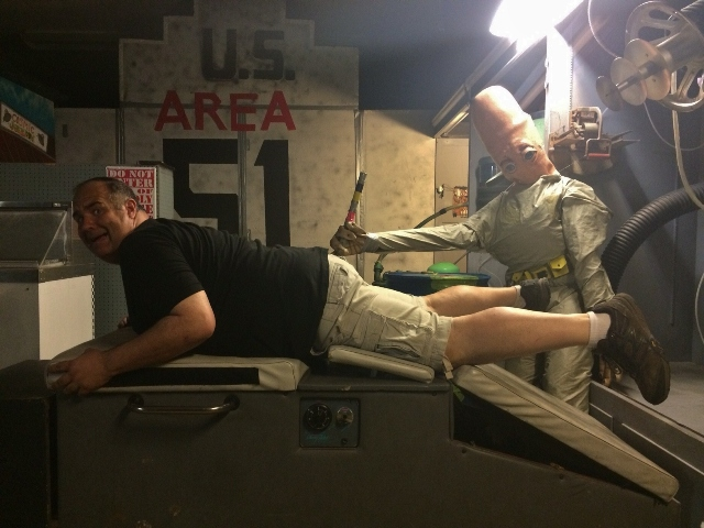 Dave gets probed Roswell-style!