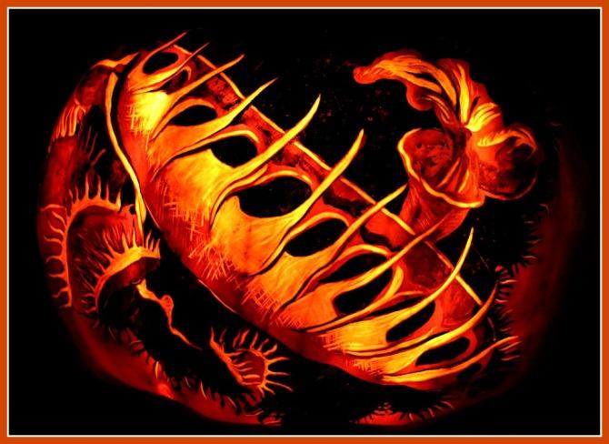 venus-fly-trap-pumpkin