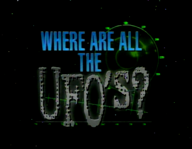 Where are all the UFO's - 1996