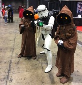 Jawas and Stormtrooper C2E2