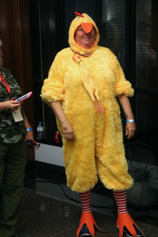 Rubber Chicken Woman