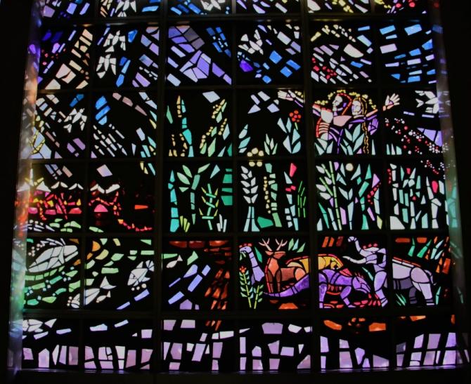 Resurrection Cemetery Stained Glass Garden of Eden