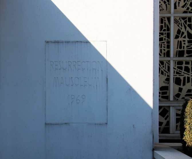 outside Resurrection mausoleum
