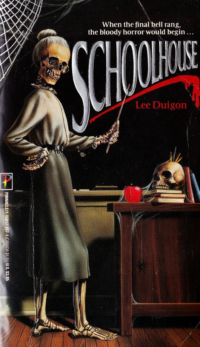Vintage horror paperback cover