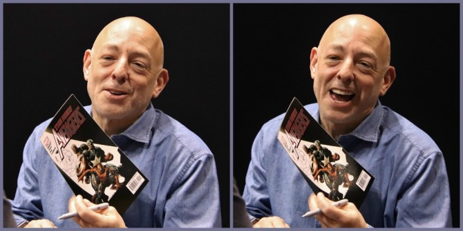 Marvel and DC comic book artist/writer Brian Michael Bendis