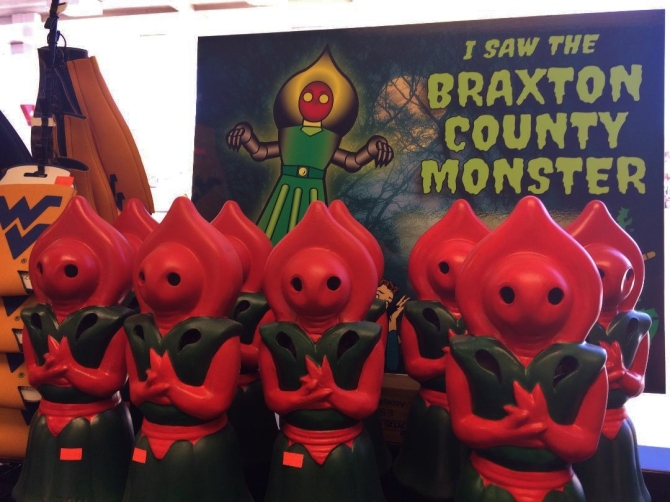 Ceramic lanterns of the Flatwoods monster
