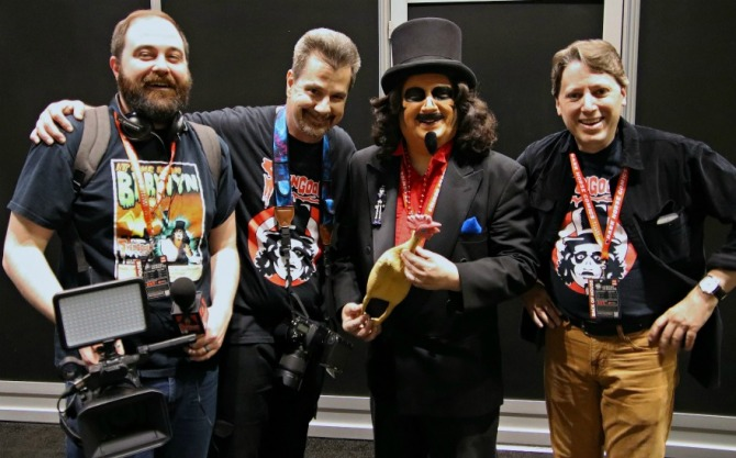 The crew - Chas Alling, Jim Roche, Svengoolie, and Chris Faulkner