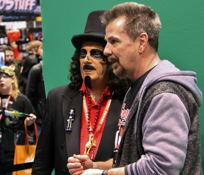 TV horror host, Svengoolie, with his producer, Jim Roche