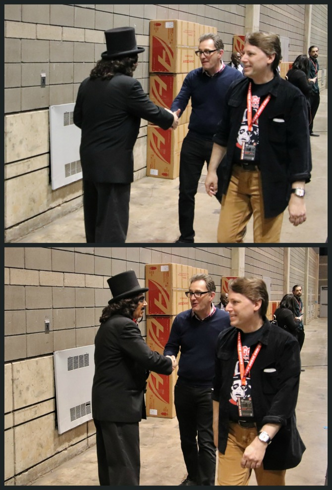 TV horror host, Svengoolie, meets the voice actor for Spongebob Squarepants, Tom Kenny