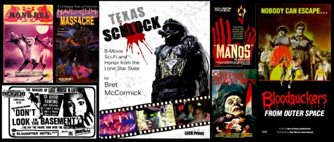 Texas Schlock with film posters from that region