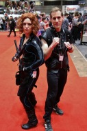 Black Widow and Hawkeye Cosplay