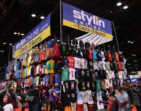 C2E2 T-shirt Tower