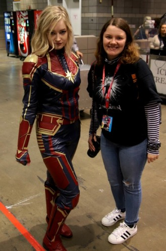 Jade Fuentes and Captain Marvel