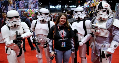 Jade Fuentes and Stormtroopers