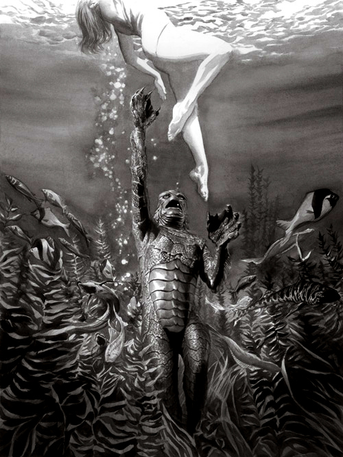 Alex Ross Creature from the Black Lagoon Steelbook art
